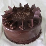SIZE 28 CM BAR ONE   Layers of chocolate cake with a Bar One filling and ganache icing.