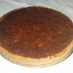 SIZE 30 CM PECAN TART Sweet pastry with pecan nut filling.